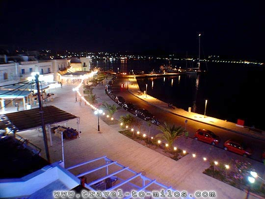 ADAMAS AT NIGHT - The port of Adamas at night by D Dimakakos