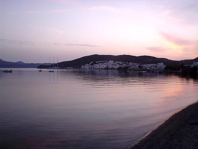 Panomaric image of Adamas (Adamantas) village, by evening CLICK TO ENLARGE